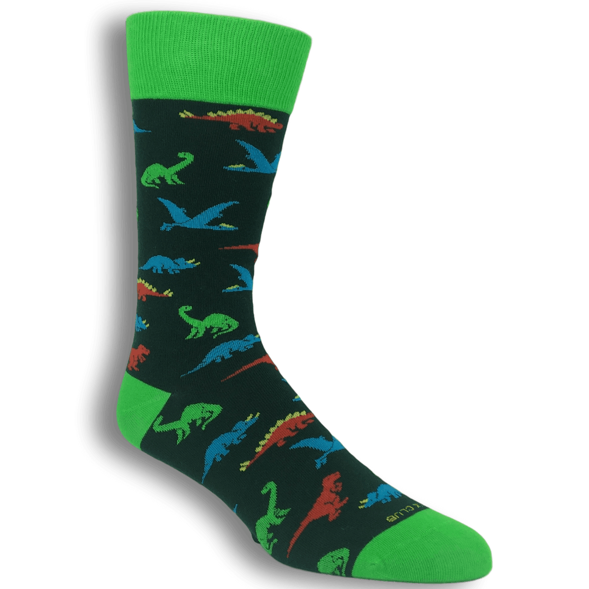 Multi Colored Dinosaur Socks by Funatic - The Sock Spot