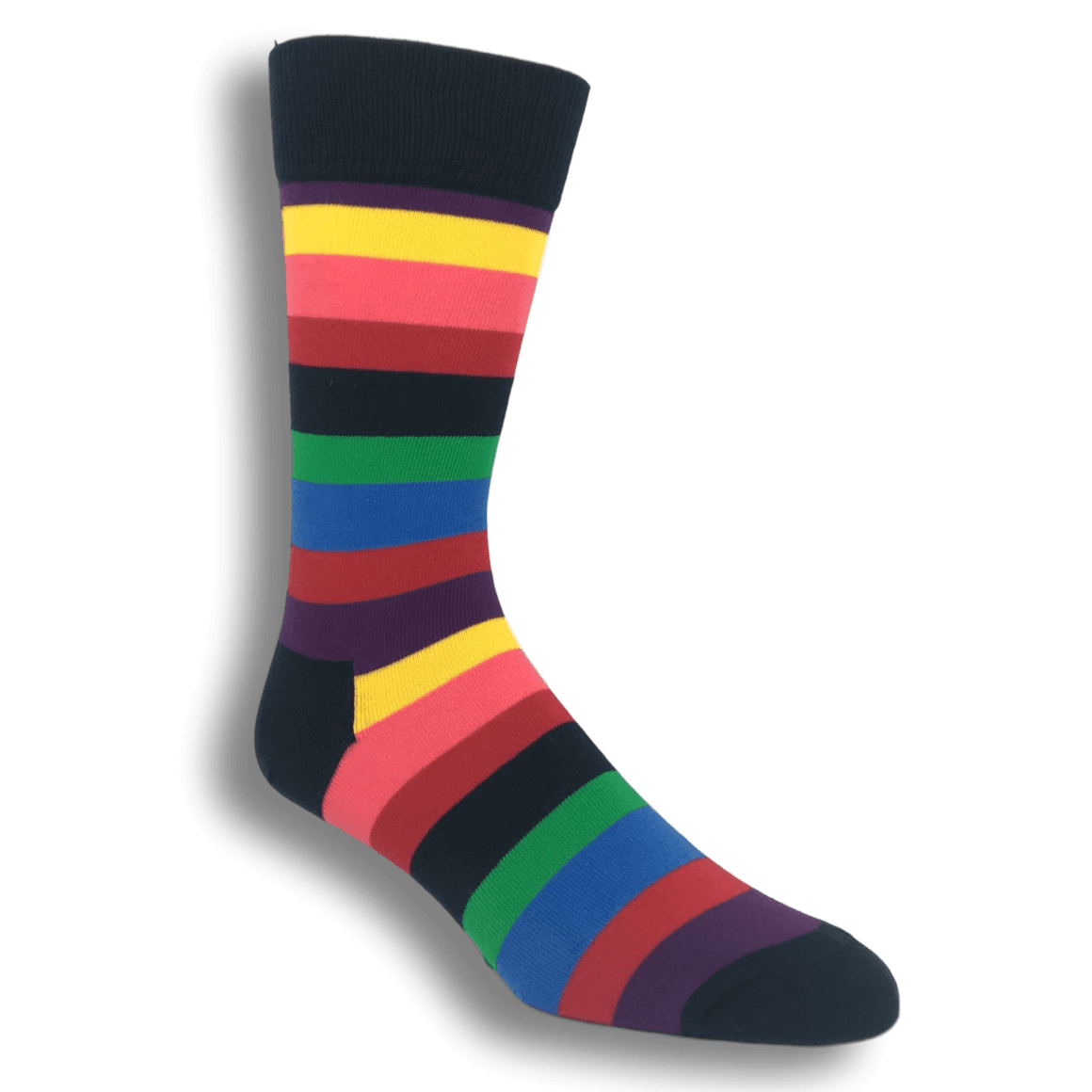Socks - Multi Colored Stripe Socks By Happy Socks