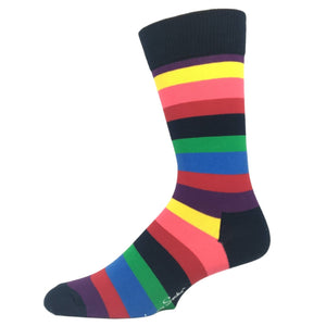 Multi Colored Stripe Socks by Happy Socks - The Sock Spot