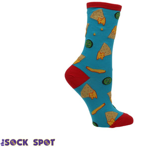 Socks - Nacho Business Women's Socks In Blue By SockSmith