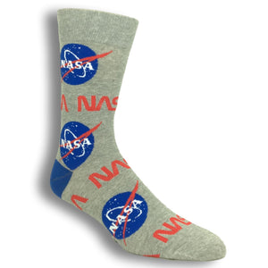 Socks - Nasa Logo Socks By Good Luck Sock