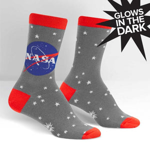 NASA Stargazer Glow in the Dark Women's Socks by Sock it to Me - The Sock Spot