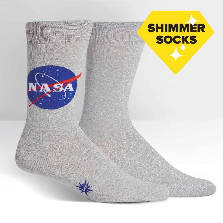 NASA Titanium Shimmer Men's Socks by Sock it to Me - The Sock Spot