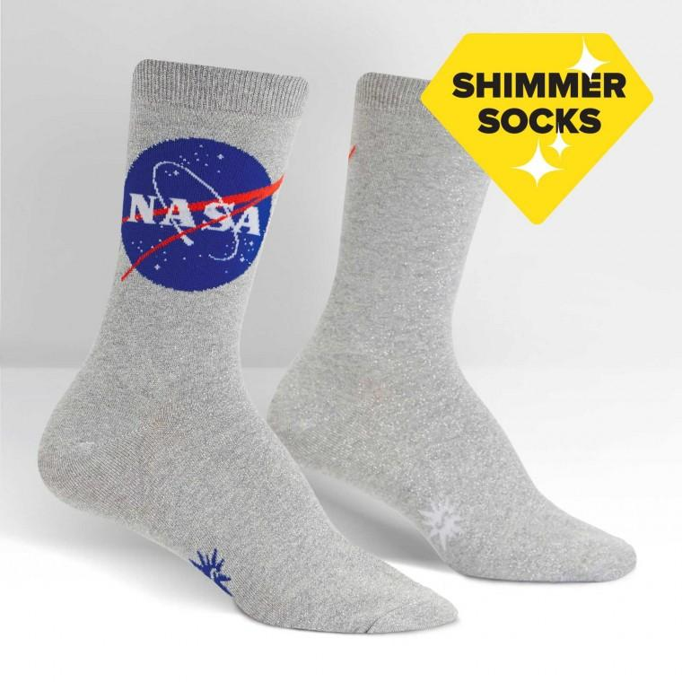 NASA Titanium Shimmer Women's Socks by Sock it to Me - The Sock Spot