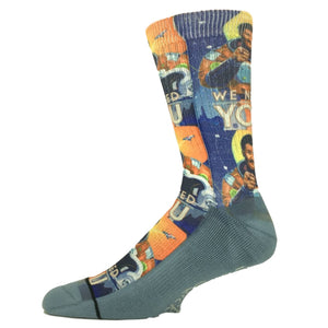 Neil deGrasse Tyson Printed Socks by Good Luck Sock - The Sock Spot