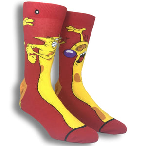 Nickelodeon Cat Dog 360 Cartoon Socks by Odd Sox - The Sock Spot