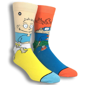 Nickelodeon Rugrats Tommy and Chuckie 360 Cartoon Socks by Odd Sox - The Sock Spot