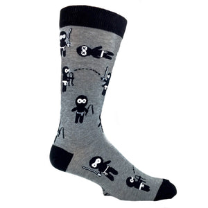 Stealth Like A Ninja Socks by K.Bell - The Sock Spot