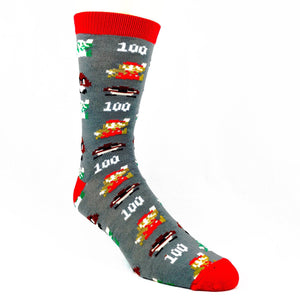 Nintendo Mario 1 Up Socks Grey - The Sock Spot