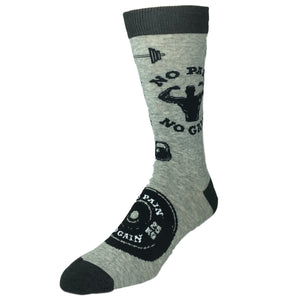 """No Pain No Gain"" Socks by K.Bell - The Sock Spot"