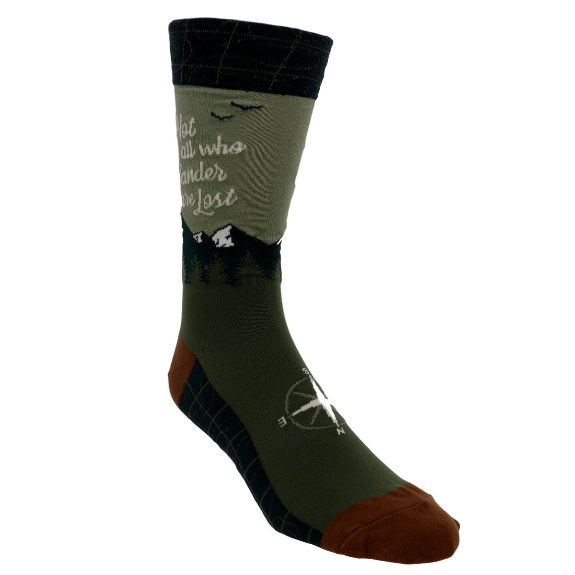 Not All Who Wander Are Lost Men's Socks by Foot Traffic - The Sock Spot