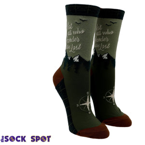 Not All Who Wander Are Lost Women's Socks by Foot Traffic - The Sock Spot
