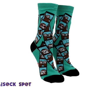 Oh Snap! Sloths Women's Socks by Sock it to Me - The Sock Spot