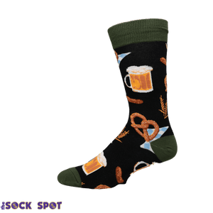 Oktoberfest Men's Socks in Black by SockSmith - The Sock Spot