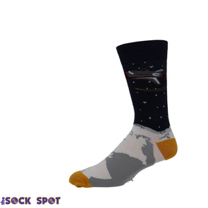 Socks - One Giant Leap Men's Socks By Sock It To Me