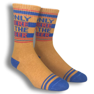 Only Here 4 The Beer Athletic Socks Made in the USA by Gumball Poodle - The Sock Spot