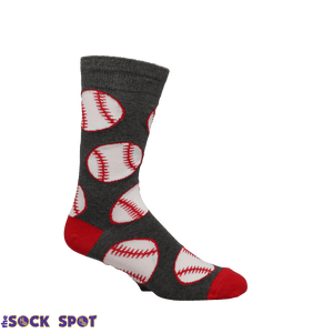 Out to the Ballgame Men's Socks in Grey by SockSmith - The Sock Spot