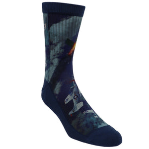 P-51 Mustang Printed Men's Socks by Good Luck Sock - The Sock Spot