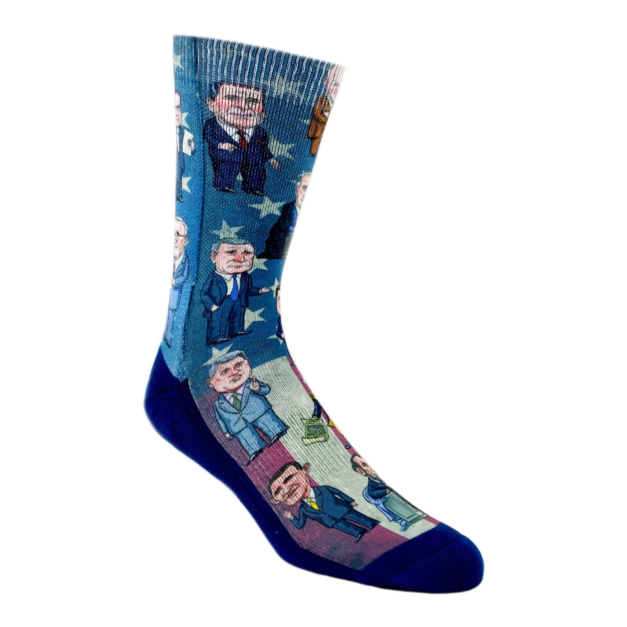 3e1900bb Past Presidents of The United States Printed Socks by Good Luck Sock