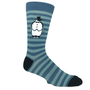 Penguin Stripe Socks by K.Bell - The Sock Spot
