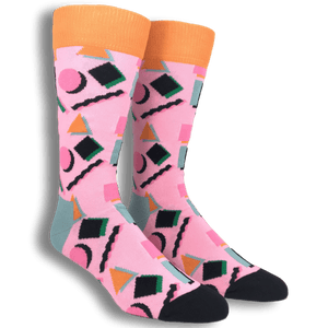 Socks - Pink And Orange 90's Socks By Happy Socks