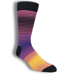 Socks - Pink And Orange Sunrise Socks By Happy Socks
