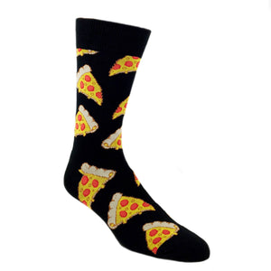 Pizza Slice Socks in Black by SockSmith - The Sock Spot