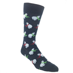 Polar Bears Christmas Socks in Blue by Hot Sox - The Sock Spot