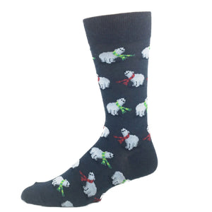 Socks - Polar Bears Christmas Socks - Blue
