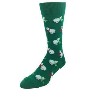 Socks - Polar Bears Christmas Socks - Green