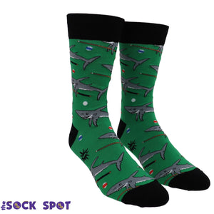Pool Shark Men's Socks by Sock it to Me - The Sock Spot