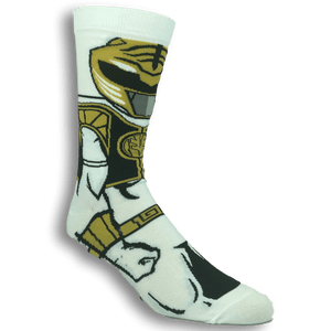 Power Rangers White Ranger 360 Socks - The Sock Spot