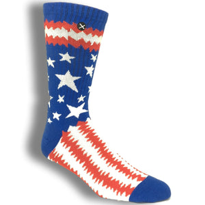Punk USA Flag Printed Socks by Odd Sox - The Sock Spot