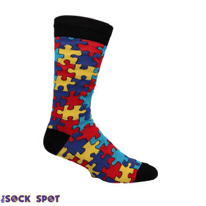 Puzzled Men's Socks in Multi by SockSmith - The Sock Spot