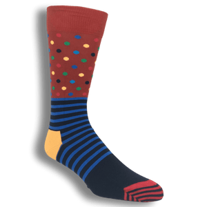 Socks - Red And Blue Stripes & Dots Socks By Happy Socks
