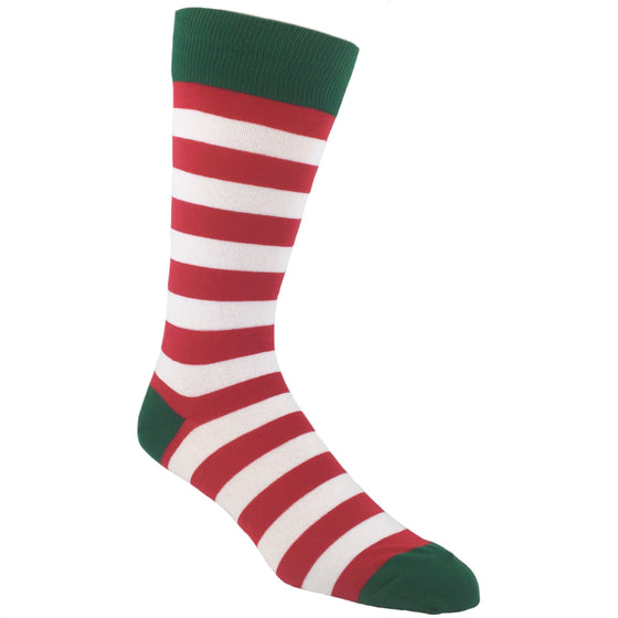 Socks - Red And Green Striped Christmas Socks