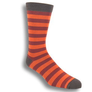 Red and Orange Striped Bamboo Socks by SockSmith - The Sock Spot