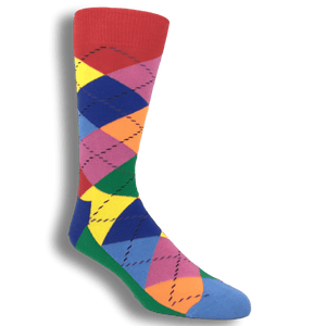 Socks - Red, Blue, And Green Argyle Socks By Happy Socks