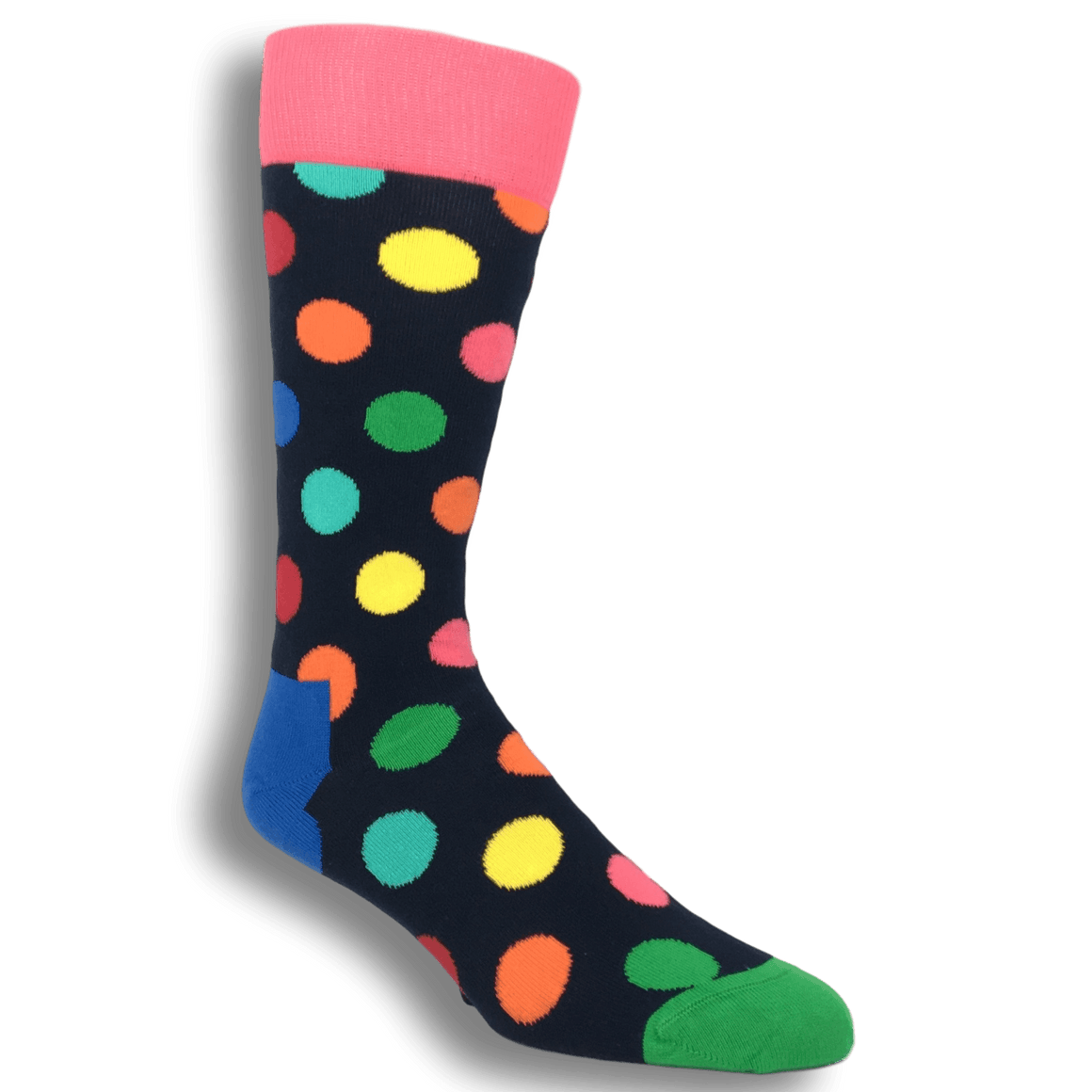 Red, Green, and Blue Multi Colored Big Dot Socks by Happy Socks - The Sock Spot