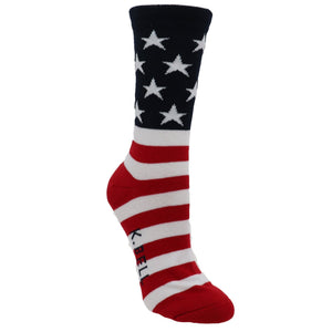 Red, White, and Blue Women's Socks - Made In America by K.Bell - The Sock Spot