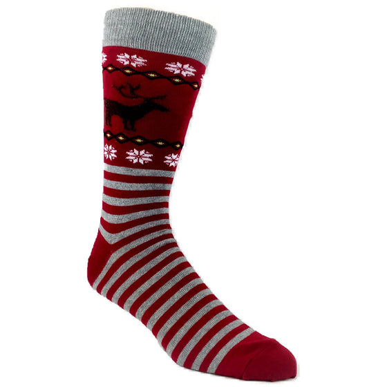Socks - Reindeer Non-Skid Christmas Socks - Red