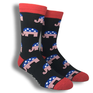 Republican Elephant Socks - Made in America by K.Bell - The Sock Spot