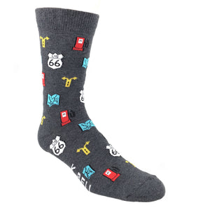 Traveling Route 66 Socks - Made In America - The Sock Spot