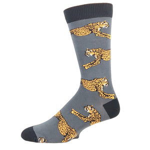 Running Cheetah Bamboo Animal Socks by SockSmith - The Sock Spot