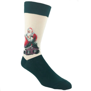 Santa Claus Norman Rockwell Socks by Hot Sox