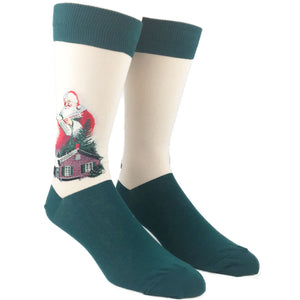 Santa Claus Norman Rockwell Socks by Hot Sox - The Sock Spot