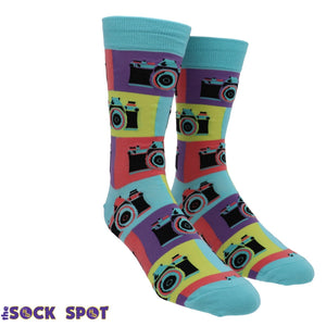 Say Cheese Men's Socks by Sock it to Me - The Sock Spot