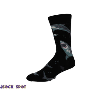 Shark Chums Men's Socks in Black by SockSmith - The Sock Spot