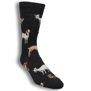 Silly Billy Goat Men's Socks in Grey by SockSmith - The Sock Spot