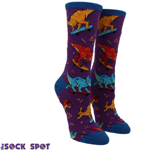 Socks - Skate Or Dinosaur Women's Socks In Blue By SockSmith